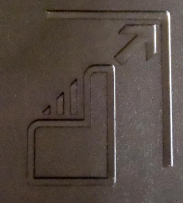 エプソンのプリンタの用紙トレーのマーク